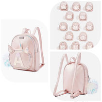 Justice  pompom initial unicorn mini backpack