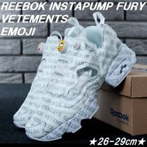 ユニークデザイン★Reebok Instapump Fury Vetements Emoji★白