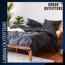 Urban Outfitters 掛け布団 カバー コットン 綿 黒 フルクイーン