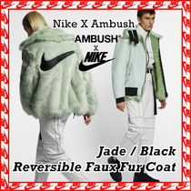 Nike x Ambush Reversible Faux Fur Coat Jacket [WMNS] 2018 AW