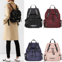 BB321 THE MEDIUM RUCKSACK IN LOGO PRINT ECONYL