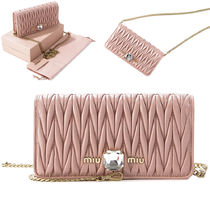 MiuMiu★Matelasse crystal mini-bag _5DH044 2D3Y ORCHIDEA