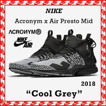 "Acronym x Nike Air Presto Mid ""Cool Grey"" 2018 FW AW 18"