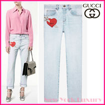 GUCCI★素敵!Light Rinse RED HEART DAGGER JEANS
