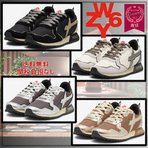 W6YZ(ウィズ) スニーカー イタリア発!大人気!【W6YZ】JET-W Leather&fabric sneakers
