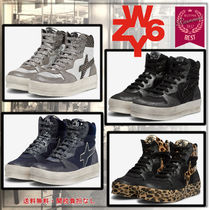 W6YZ(ウィズ) スニーカー イタリア発!大人気!【W6YZ】MIG-W Leather&fabric sneakers