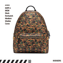 人気話題コラボBAPE x MCM Stark Backpack Medium Visetos Camo