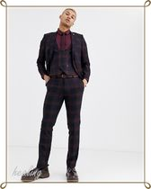 ASOS★Twisted Tailor3点セットスーパースキニースーツチェック
