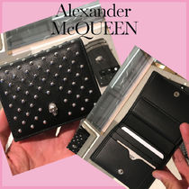 【ALEXANDER McQUEEN】582236 コンパクト スカル 折りたたみ財布