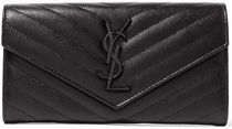 ★SAINT LAURENT★MONOGRAMME QUILTED LEATHER WALLET