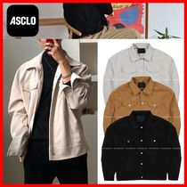 人気☆【ASCLOエジュクロ】☆Double Suede Trucker Jacket☆3色
