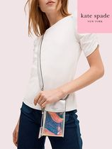 【kate spade】iridescent flap phone crossbody 8aru6610