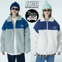 ncover Square patch fleece jacket MH611 追跡付