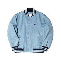 [ WKNDRS ] RETRO STADIUM DENIM JACKET (L.Denim, D.Denim)
