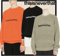 ★関税込★thisisneverthat★T-LOGO KNIT SWEATER★3色★
