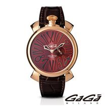 大人気 ☆GaGa MILANO☆ 腕時計 SLIM 46MM ROSE GOLD PLATED♪