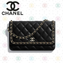 《 CHANEL 》Wallet on chain チェーンウォレット ラムスキン