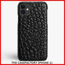 関税送料込☆THE CASEFACTORY☆IPHONE 11 CROCODILE BLACK