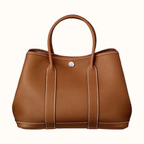 HERMES Love It !! Garden Party 30 tote bag gold