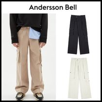 ANDERSSON BELL CLAUD MULTI CARGO POCKET WIDE LEGGED TROUSERS