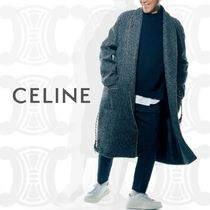 19AW UOMO掲載《 CELINE 》PRINCE OF WALES バスローブコート