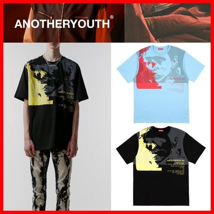 ANOTHERYOUTH Tシャツ・カットソー ☆韓国の人気☆【ANOTHERYOUTH】☆face printing t☆2色☆