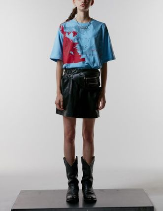 ANOTHERYOUTH Tシャツ・カットソー ☆韓国の人気☆【ANOTHERYOUTH】☆face printing t☆2色☆(7)