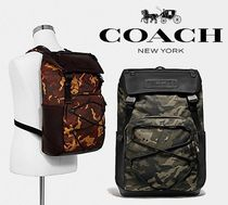 人気【COACH】Terrain Backpack With Camo Print F76786