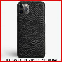 関税送料込☆THE CASEFACTORY☆IPHONE 11 PRO MAX LIZARD BLACK