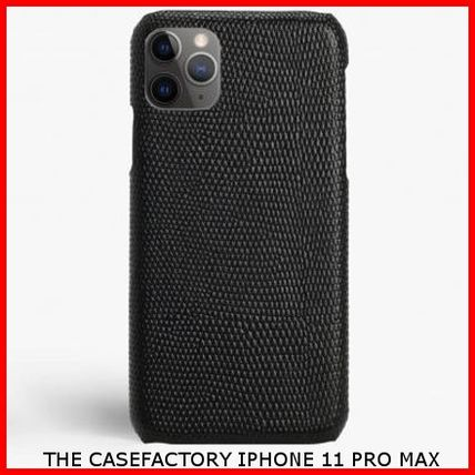 THE CASE FACTORY スマホケース・テックアクセサリー 関税送料込☆THE CASEFACTORY☆IPHONE 11 PRO MAX LIZARD BLACK
