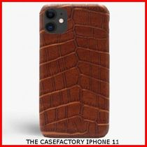 関税送料込☆THE CASEFACTORY☆IPHONE 11 CROCODILE COGNAC