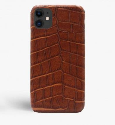 THE CASE FACTORY スマホケース・テックアクセサリー 関税送料込☆THE CASEFACTORY☆IPHONE 11 CROCODILE COGNAC(2)