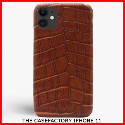 THE CASE FACTORY スマホケース・テックアクセサリー 関税送料込☆THE CASEFACTORY☆IPHONE 11 CROCODILE COGNAC