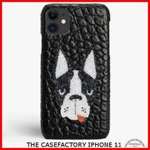 関税送料込☆THE CASEFACTORY☆IPHONE 11 SWAROVSKI DOG