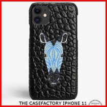 関税送料込☆THE CASEFACTORY☆IPHONE 11 SWAROVSKI ZEBRA