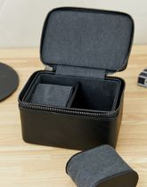 Stackers black double zipped travel watch box