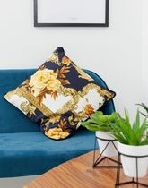 River Island cushion with baroque style print in multi