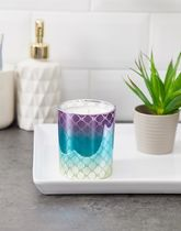 River Island monogrammed candle in iridescent