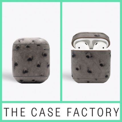 THE CASE FACTORY スマホケース・テックアクセサリー The Case Factory★AirPodケースダークグレー★iPhone11