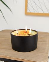 Flamingo Candles rose gin black galaxy triple wick candle
