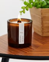 wxy. wide wick black ash + frankincense 500g candle