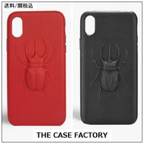 【THE CASE FACTORY】 iPhone ケース X XS カブトムシ 赤 黒 ♪