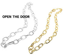 OPENTHEDOOR bold mix chain necklace OH80 追跡付