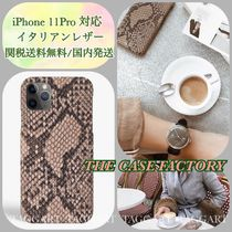 【THE CASE FACTORY】本革☆iPhone11Proケース/ソフトパイソン柄