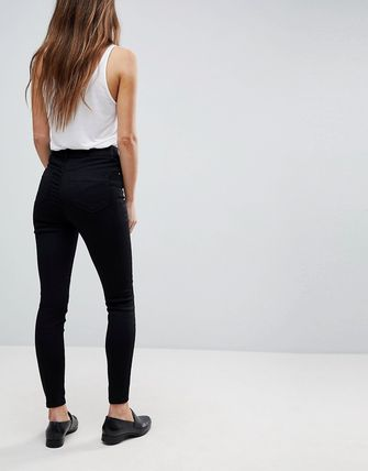 ASOS デニム・ジーパン ASOS DESIGN Ridley high waisted skinny jeans in clean blac(2)