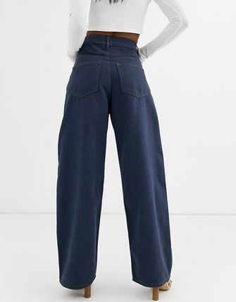 ASOS デニム・ジーパン ASOS DESIGN High rise 'relaxed' dad jeans in smokey blue w(2)