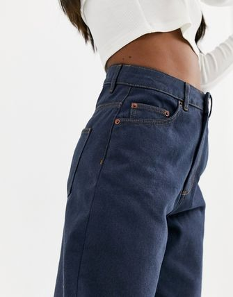 ASOS デニム・ジーパン ASOS DESIGN High rise 'relaxed' dad jeans in smokey blue w(3)