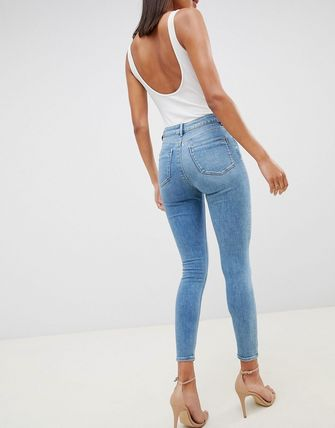ASOS デニム・ジーパン ASOS DESIGN Ridley high waisted skinny jeans in pretty mid(2)