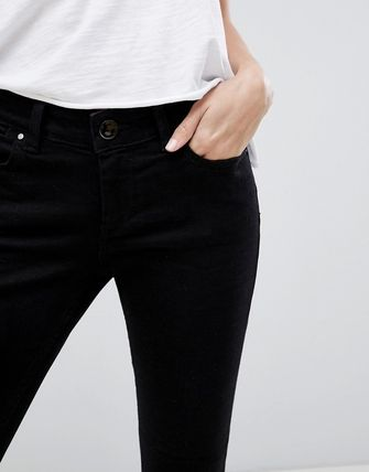 ASOS デニム・ジーパン ASOS DESIGN Whitby low rise skinny jeans in clean black(3)