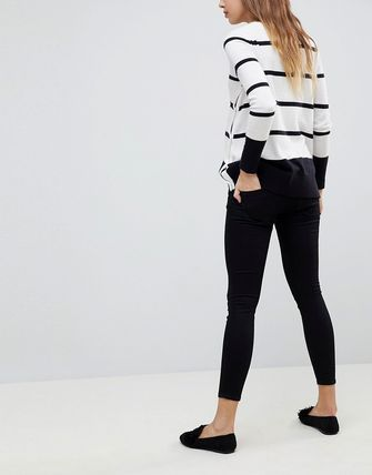 ASOS デニム・ジーパン ASOS DESIGN Maternity Whitby low rise skinny jeans in clea(2)